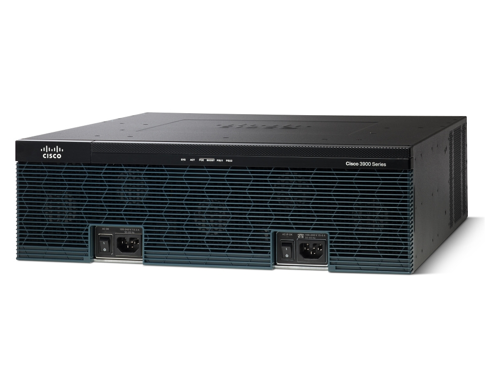 Маршрутизатор Cisco 3900 Series Secure Voice & Unified Border Element C3925-VSEC-CUBE/K9
